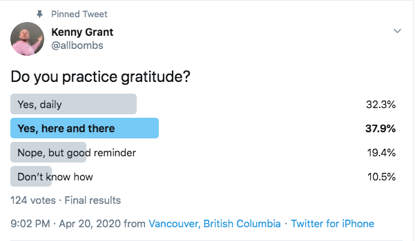 do you practice gratitude survey