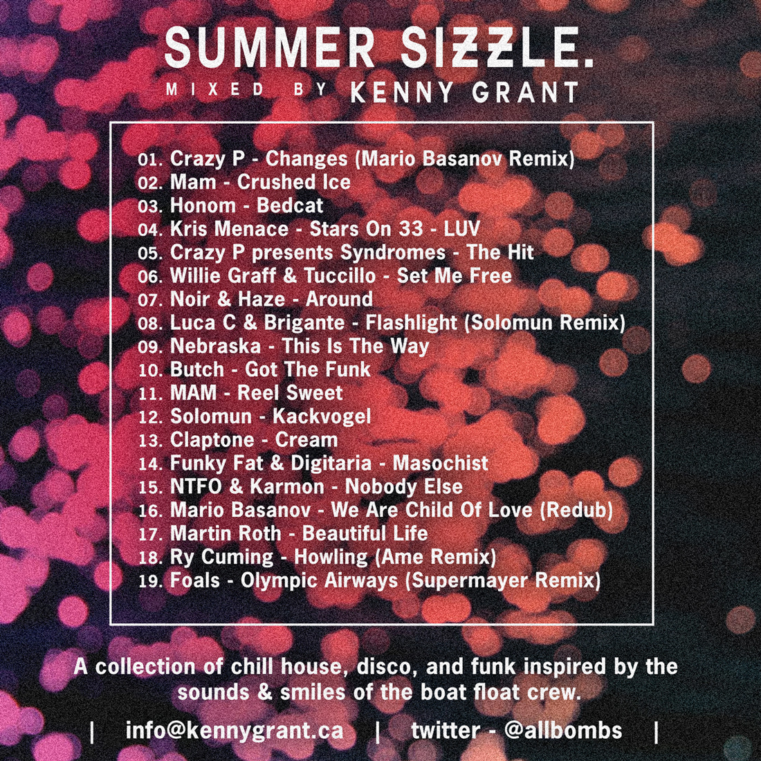 Summer Sizzle Back cover kenny grant house music